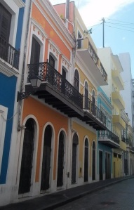 Old San Juan has the most delightfully painted buildings!