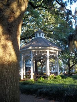 One of the many picturesque squares in Savannah.