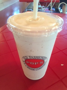 My Gingerbread shake from Pops.